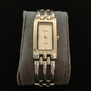 Ladies silver Gucci watch